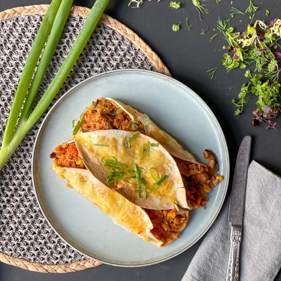 Burrito met kip & kaas