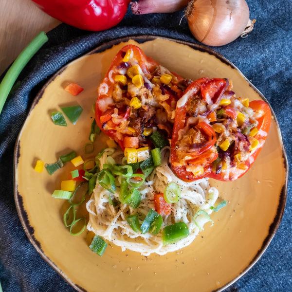 Gevulde paprika met kip