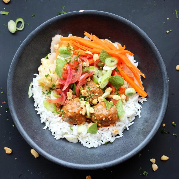 Vietnamese Rijstschotel